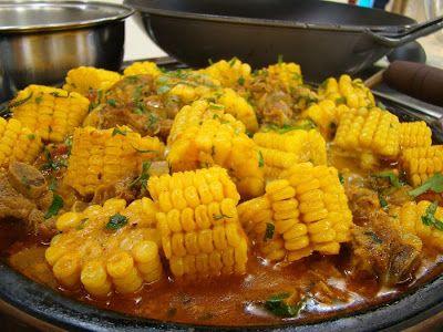 Culinária de Domingo: GUISADO DE COSTELINHA COM MILHO FRESCO E SALADA DE...