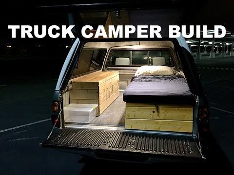 Deluxe Truck Camper Shell Camping Build - YouTube