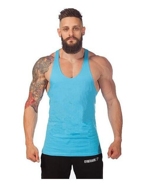 2016 gym clothing Solid bodybuilding shirts gym shark men vest Sport singlet men gym tank top cheap throwback basketball jerseys