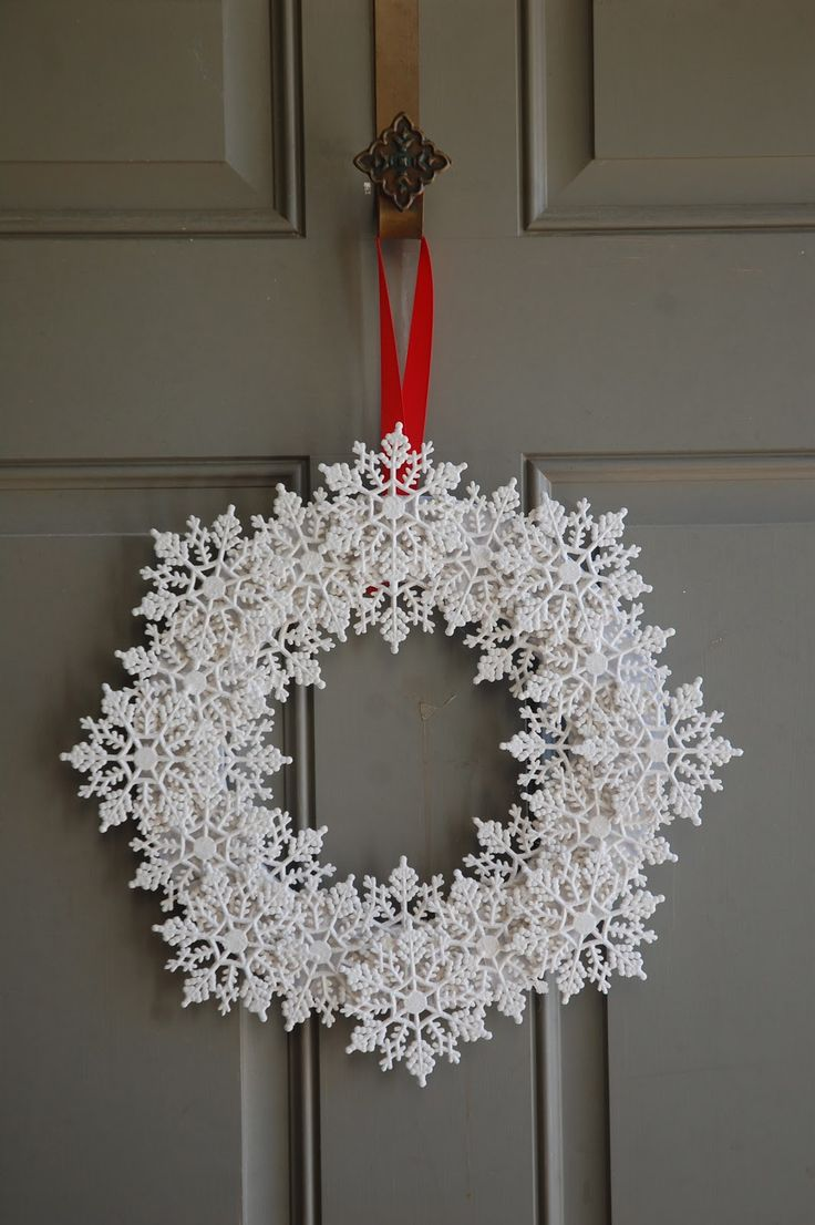 25 Best Ideas About Snowflake Wreath On Pinterest Diy