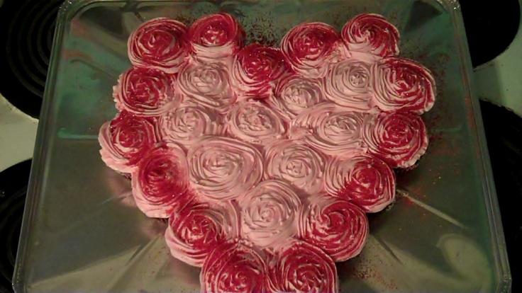 Heart Pull Apart Cupcakes Cupcakes Pinterest
