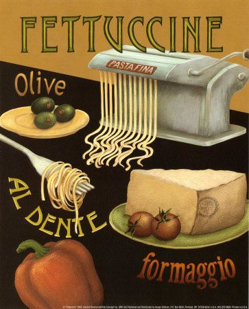 Fettuccine Print van Daphne Brissonnet bij AllPosters.nl
