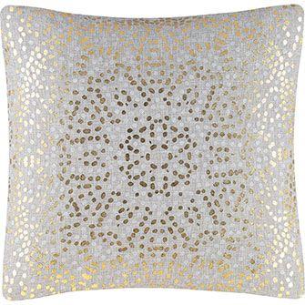 Grey & Gold Speckled Cushion 51x51cm