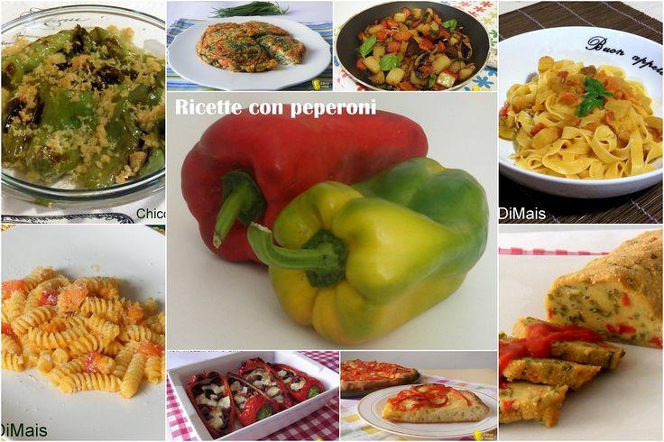 Ricette con peperoni facili e veloci. Raccolta di tante ricette con peperoni antipasti, primi piatti, contorni, secondi e piattti unici spiegati passo passo