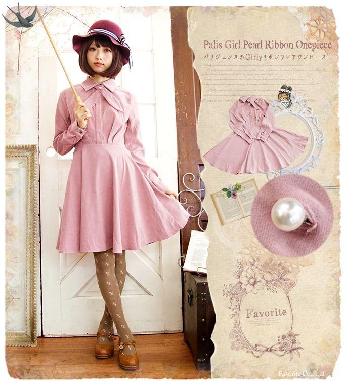 0c56a5da43ba2 「森ガール ワンピ専門店のFavorite公式通販サイト」「ワンピース ピンク ミディアム