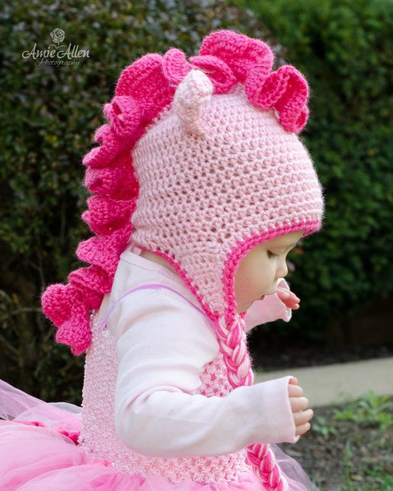 Cute pink pony hat sizes 1224 months 23 T or 35 by hooliganshobby
