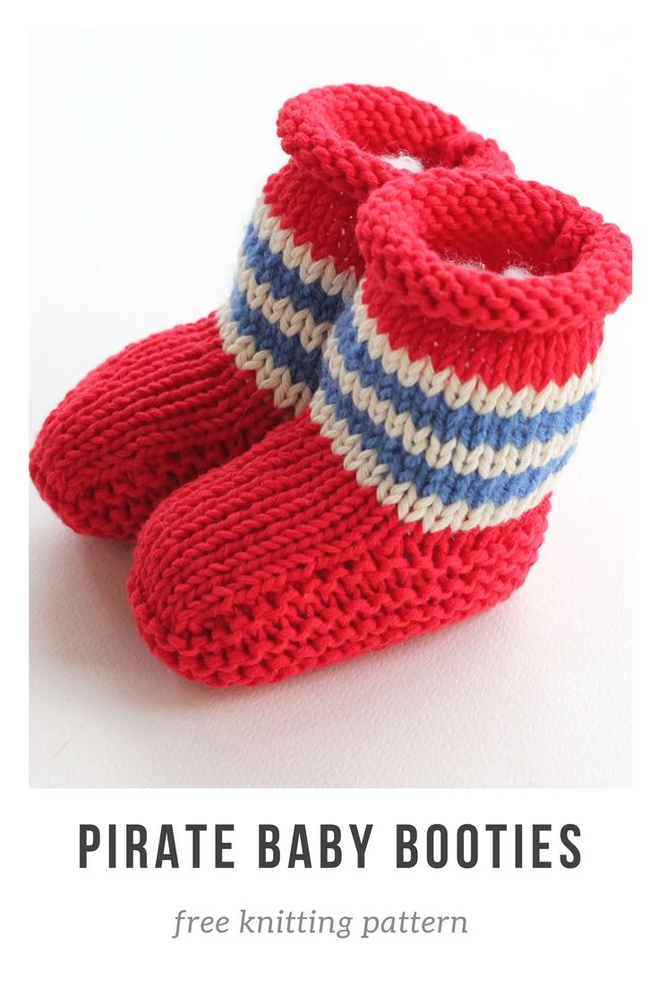 Pirate baby booties free knitting pattern.   Baby Knitting ...