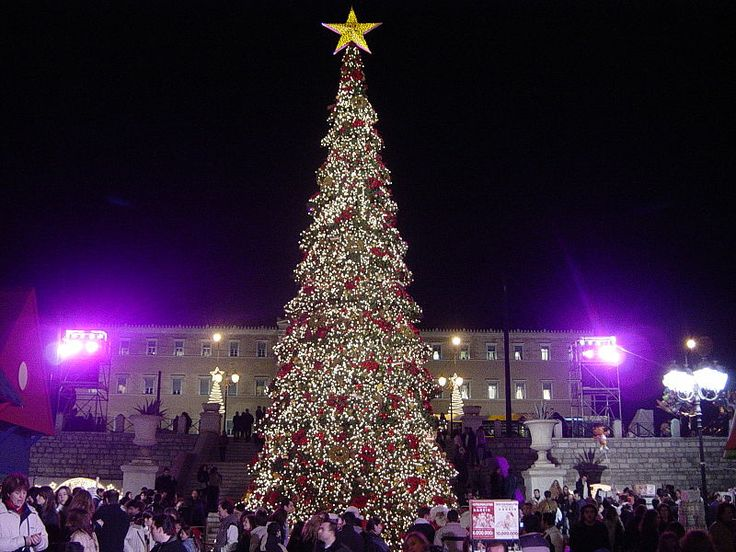 GREECE Christmas tree in Syntagma Square, Athens