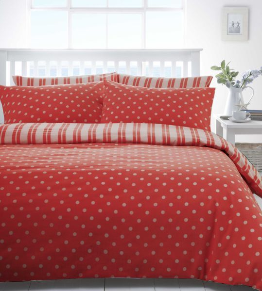 Red White Polka Dot Spot or Stripe Discount Bedding Sets Bed Linen | eBay