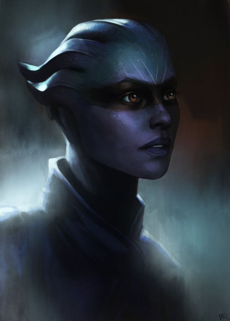 """shamianasart: """"  I'm currently trying to improve my portrait skills and I quite like the look of the Asari from the Mass Effect: Andromeda trailers, so… """""""