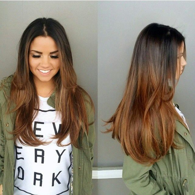 Rich dark tones with balayaged ends makes for a perfect color on Calllee!!