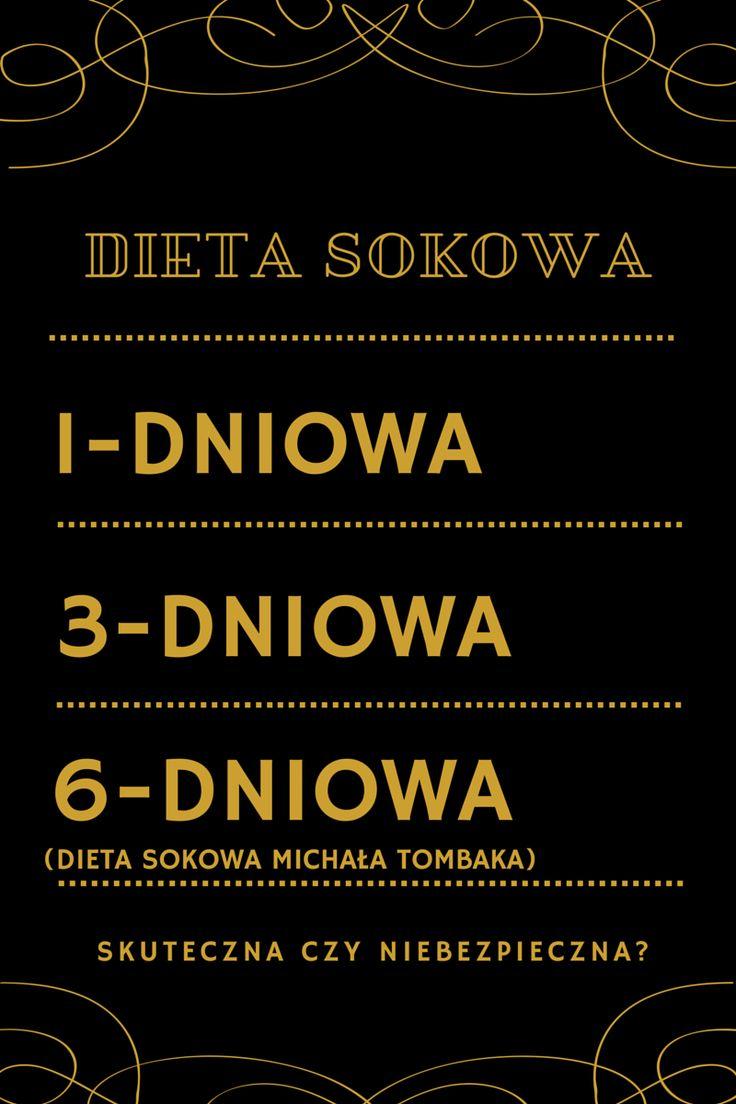 Dieta sokowa 1, 3 i 6-dniowa (Michała Tombaka): zasady i menu