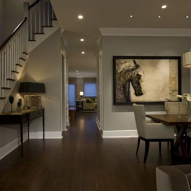 """Love the wall color! Must remember Benjamin Moore """"revere pewter"""""""