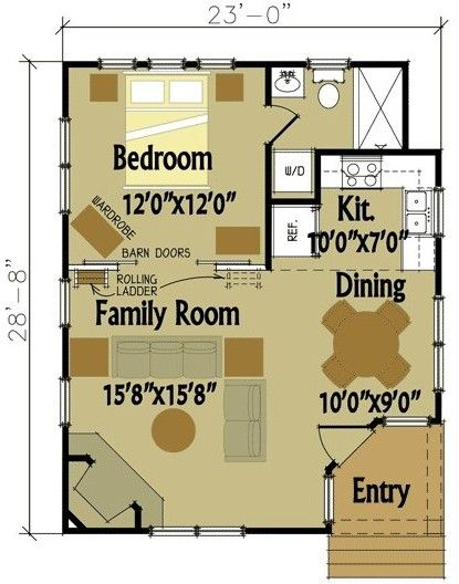 7 best Ideas for the House images on Pinterest Granny flat, House - plan maison plain pied 80m2