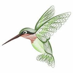 Rippled Hummingbirds(Sm) machine embroidery designs