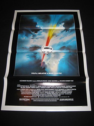 SUPERMAN THE MOVIE 1978  CHRISTOPHER REEVE  MINT TRI-FOLDED ONE SHEET  RARE 1ST PRINTING!! @ niftywarehouse.com
