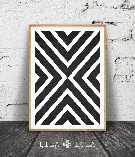Geometric Art Print, Black and White Wall Art Decor, Printable Geometric Art, Modern Wall Art Print Decor, Modern Art Print Geometric Design