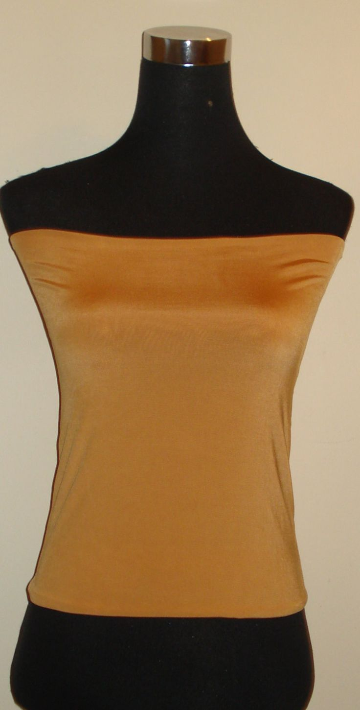 Bandeau top corp tube top dark camel tops vest top by stitchawayrose on Etsy