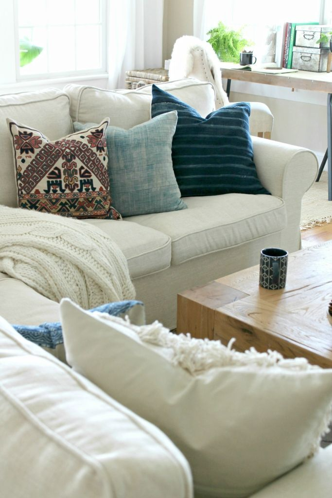 Modern Country Pillows : Mini Fall Family Room Makeover-Pillows from Etsy, Pottery Barn and H & M creative ideas ...