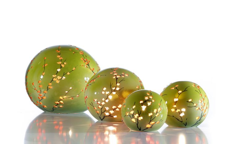 Keramische bol lampen met een kleur