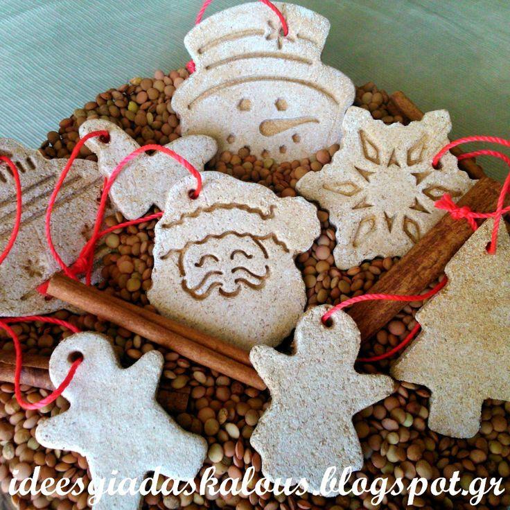 Christmas no cook cinnammon ornaments