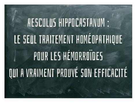 hemorroide homeopathie