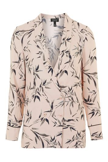 Bamboo Print Soft Tailored Jacket
