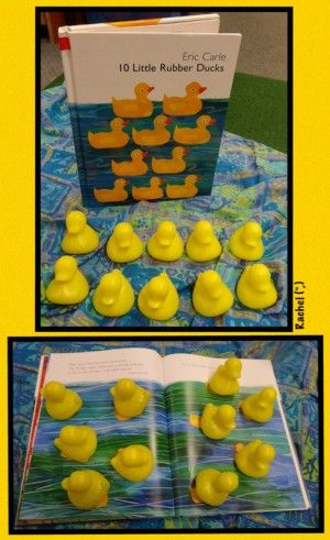 "Counting fun with the book, '10 Little Rubber Ducks' from Rachel ("",)"
