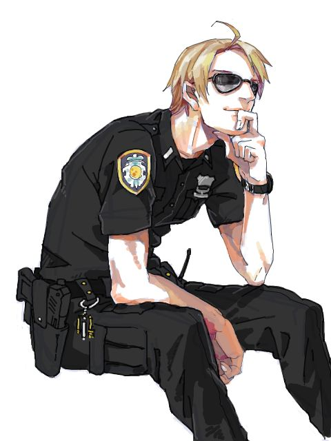 """I love nations dressed as domestic service men (like police or fire) and military. It just seems to make them more nation-like. (""""Hetalia America Alfred F. Jones"""")"""