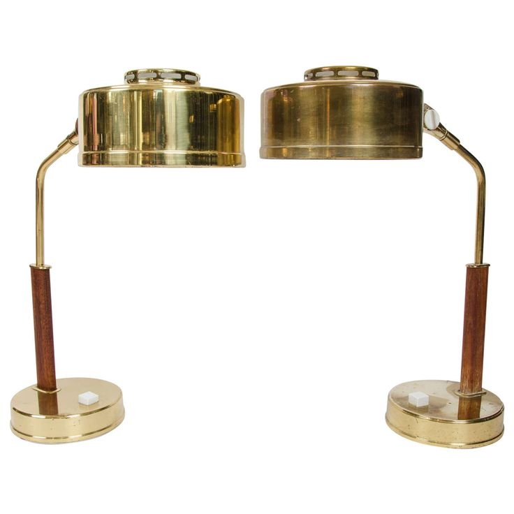 Pair of 1950s Scandinavian Table Lamps | From a unique collection of antique and modern table lamps at https://www.1stdibs.com/furniture/lighting/table-lamps/