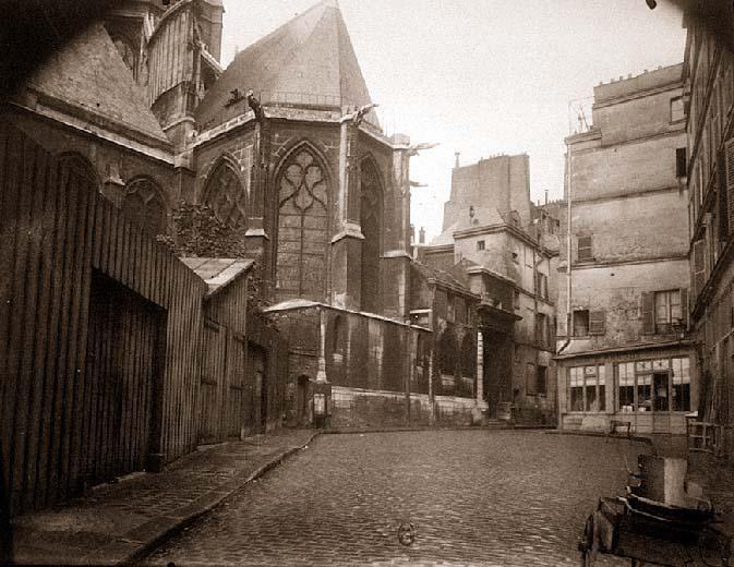 Rue des Barres, Atget (about 1924) (source: http://www.paperblog.fr/3745676/le-vieux-paris-d-eugene-atget-5/#)