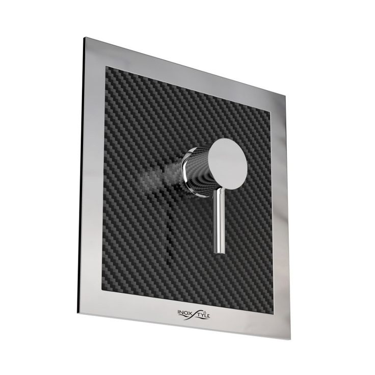 Wall mounting mixer for outdoor made in Carbon Fiber and Stainless Steel. | inoxstyle.com