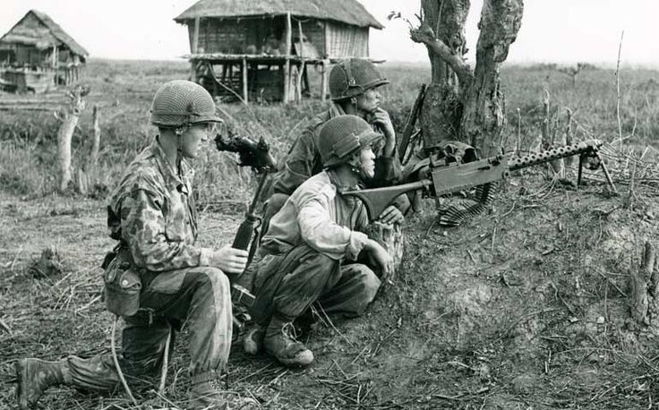 French machine gun posts guard a road during the Battle of Dien Bien Phu in March 1954. (Newscom/Akg-images)