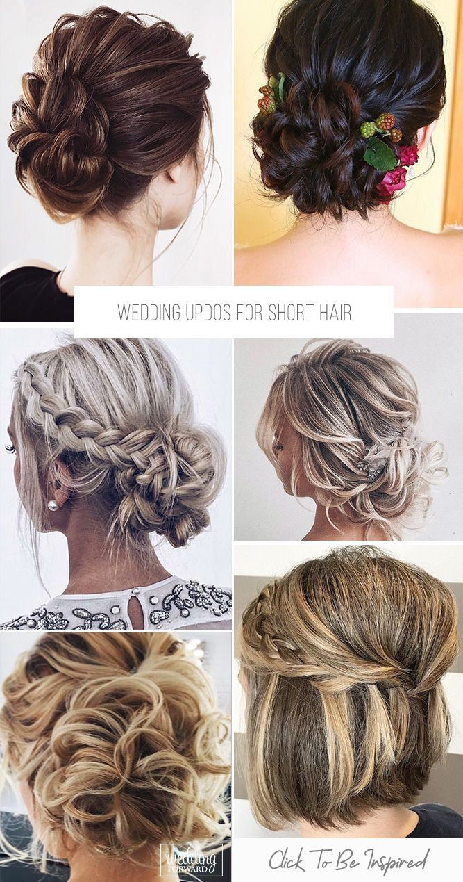 Inspiration For Wedding Updos For Short Hair Length | Wedding Forward |  Hairdos for short hair, Hair styles, Short hair updo