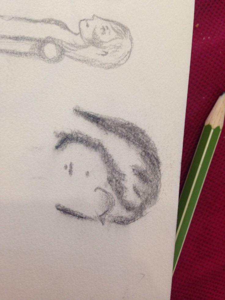 Es un dibujo de la cara de una chica alien