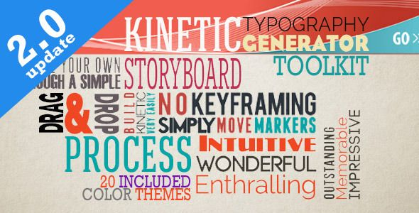 Kinetic Typography Generator Toolkit  • After Effects Template • See it in action ➝ https://videohive.net/item/kinetic-typography-generator-toolkit/6840651?ref=pxcr