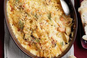Κοχυλάκι+με+σολομό+σε+κρεμώδη+λεμονάτη+σάλτσα+στο+φούρνο