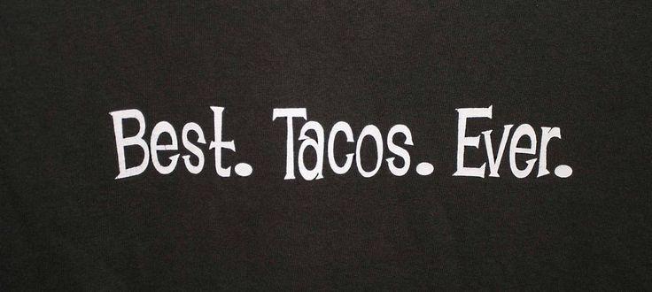 JIMBOY'S TACOS BEST TACOS EVER T-SHIRT Adult Size 2XL Black #JimboysTacos