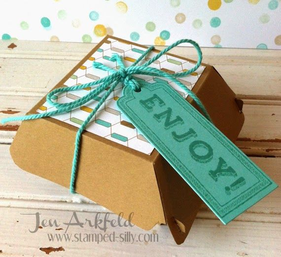 Stamped Silly: Stampin' Up! Hamburger Box Die - Frustration Free Method!