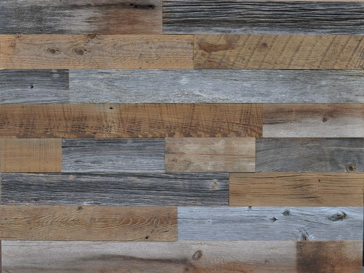 Diy Reclaimed Wood Accent Wall Grey And Brown Natural 3 5