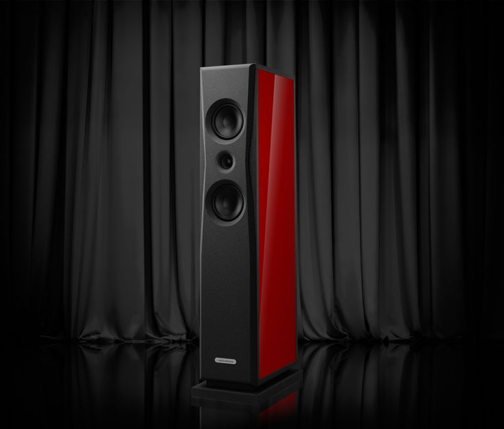 AudioSolutions Overture O203F in piano gloss red