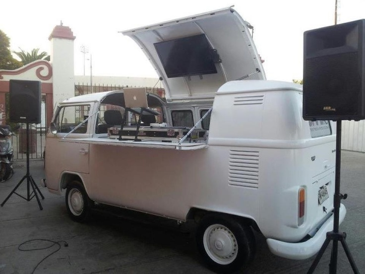 VW bus portable pop-up DJ booth | Music Related Miscellany ...