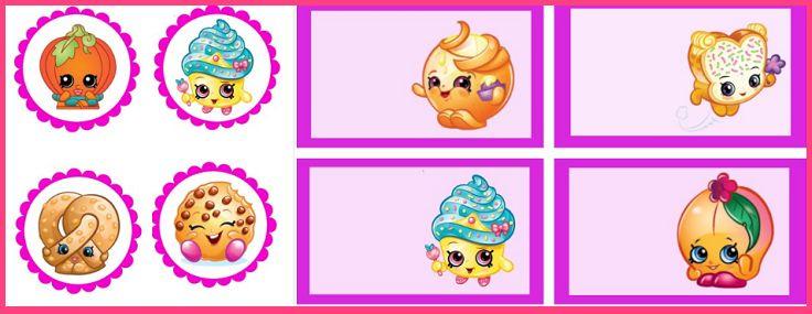 Imprimibles Shopkins decoracion - Fiesta Cumpleaños Shopkins - Stickers Shopkins - Etiquetas Shopkins - Pegatinas Shopkins