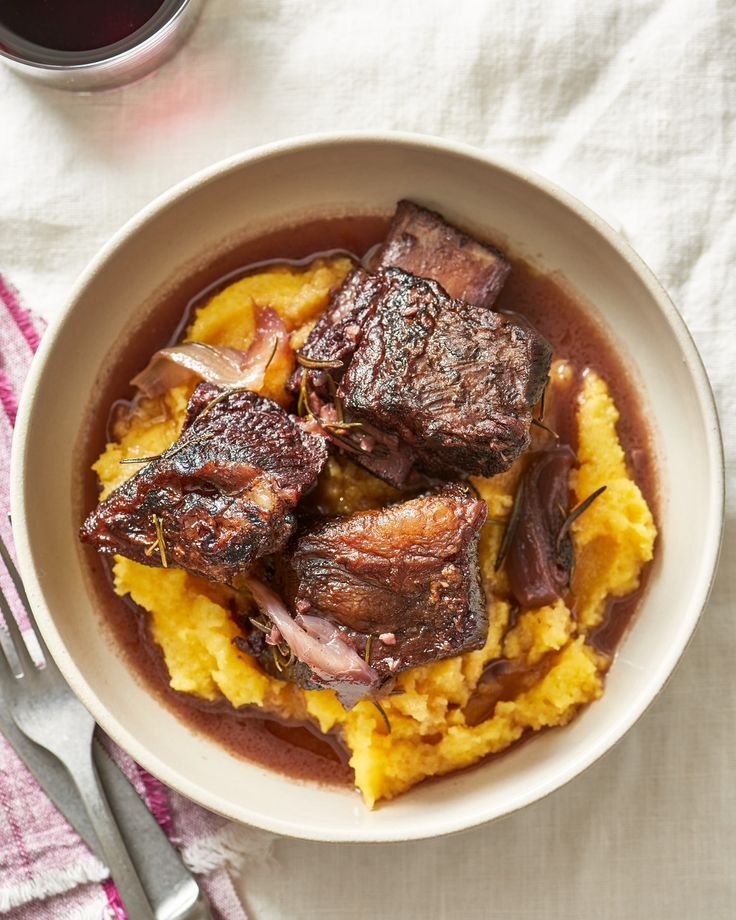 A rich winter meal, too, easy and forgiving to cook under their sleek caps of fat, melting into tender chunks of pull-apart beef in the oven.