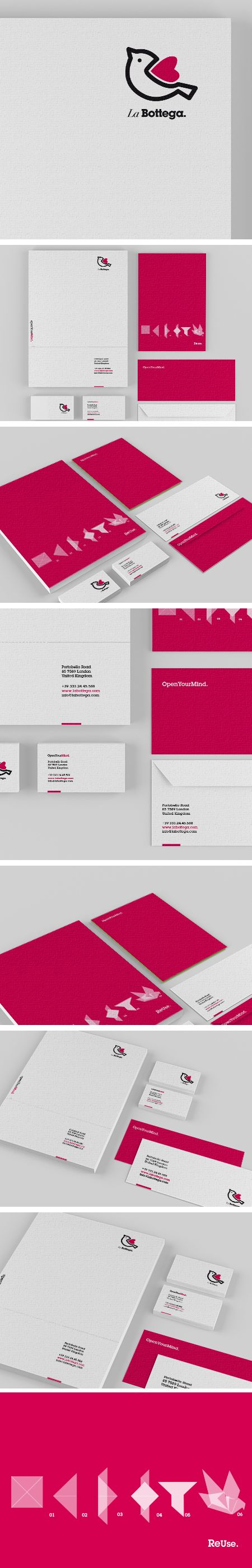 © Valentina De Laurentis | #stationary #corporate #design #corporatedesign #logo #identity #branding #marketing <<< repinned by an #advertising agency from #Hamburg / #Germany -