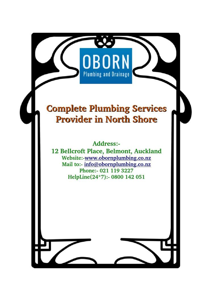 You need trusted #plumbers for #gas #installations and #repairs of your #company or #house. Oborn Plumbing offers #industrial and #home based gas #fitting services in #NorthShore city #NZ.