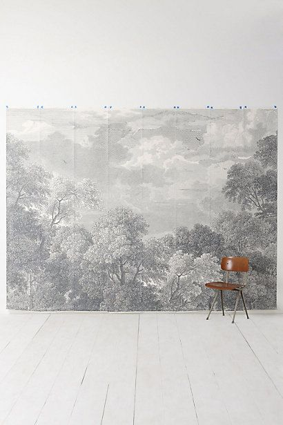 Trees WallpaperPowder Room, Dining Room, Wall Murals, Living Room, Arcadia Murals, Anthropologie Com, Etchings Arcadia, Trees Murals, Bedrooms Wall