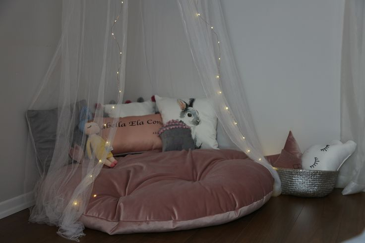 I am doing children happy corners, all pillows including the huge round one done by me. Eyelashes of star cloud embroidery. There is also a pompom pillow and personalized name pillow. picture taken by ilovefashion