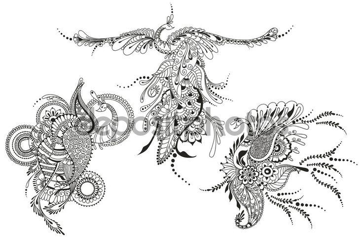 Resultado de imagen para fenix dibujo tribal