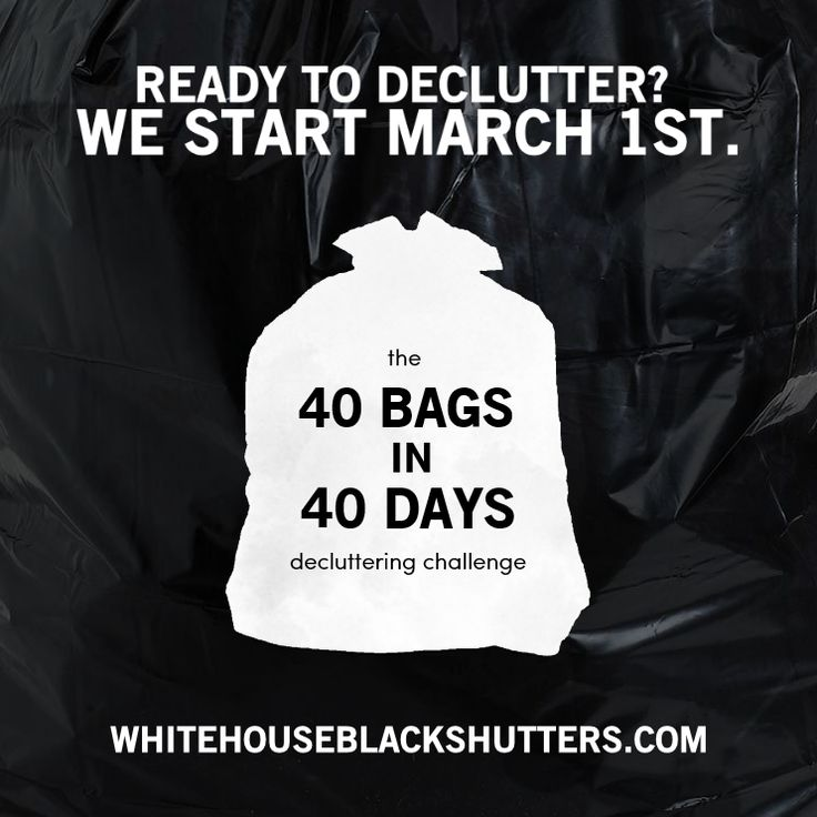 Tired of your belongings weighing you down? Join us for the official 40 bags in 40 days decluttering challenge at White House Black Shutters.